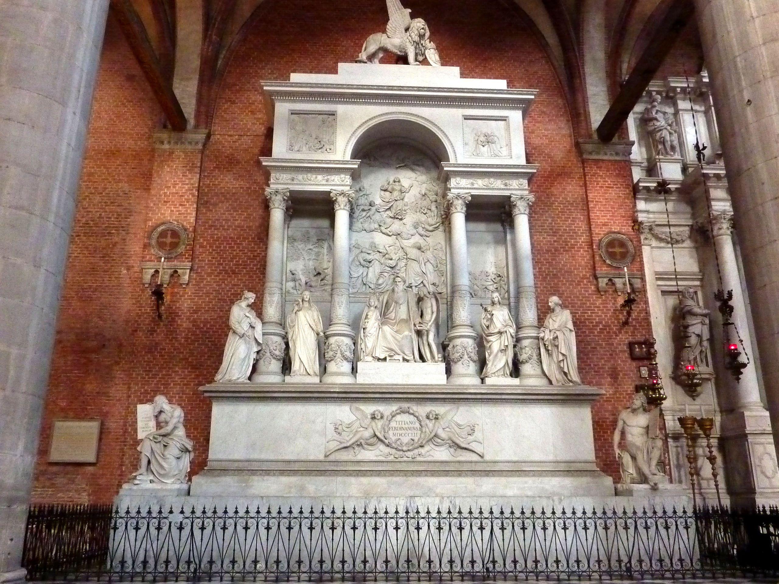 Tomb Titiaan,  Basilica dei Frari,