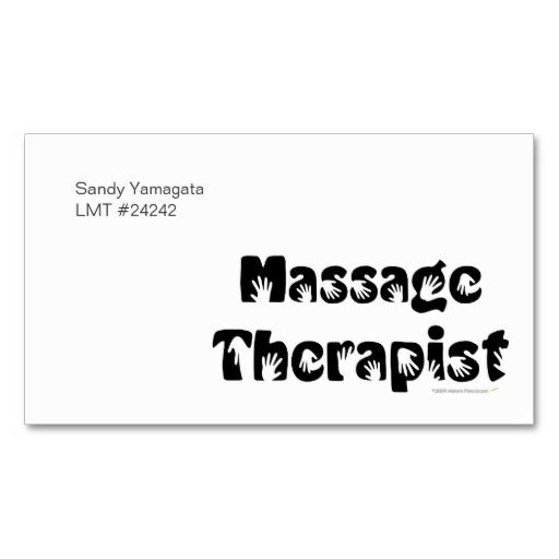 Massage therapist business cards template massage pinterest massage therapist business cards template wajeb Image collections