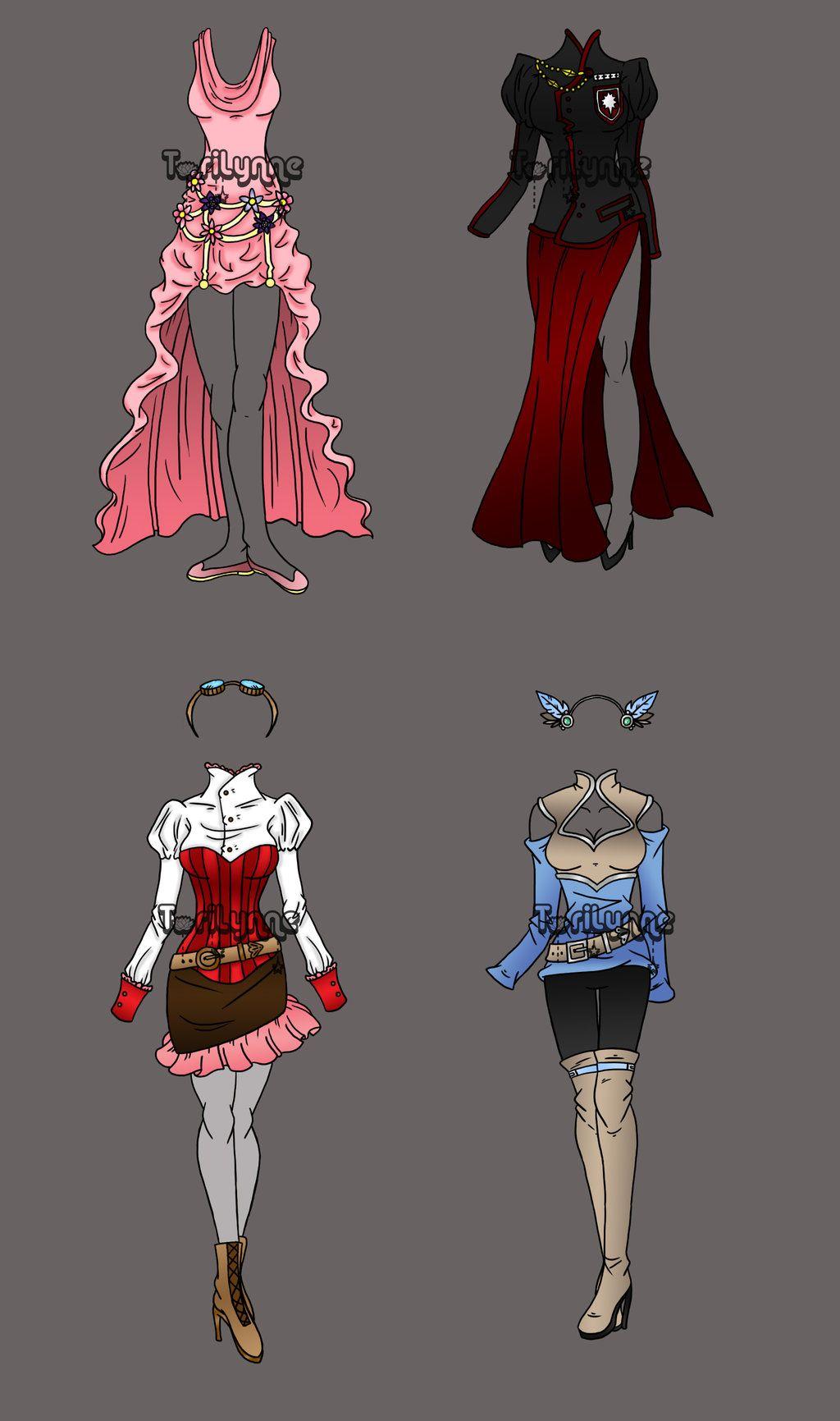 Fantasy Outfit Adopts 1 by serenofariane.deviantart.com on ...