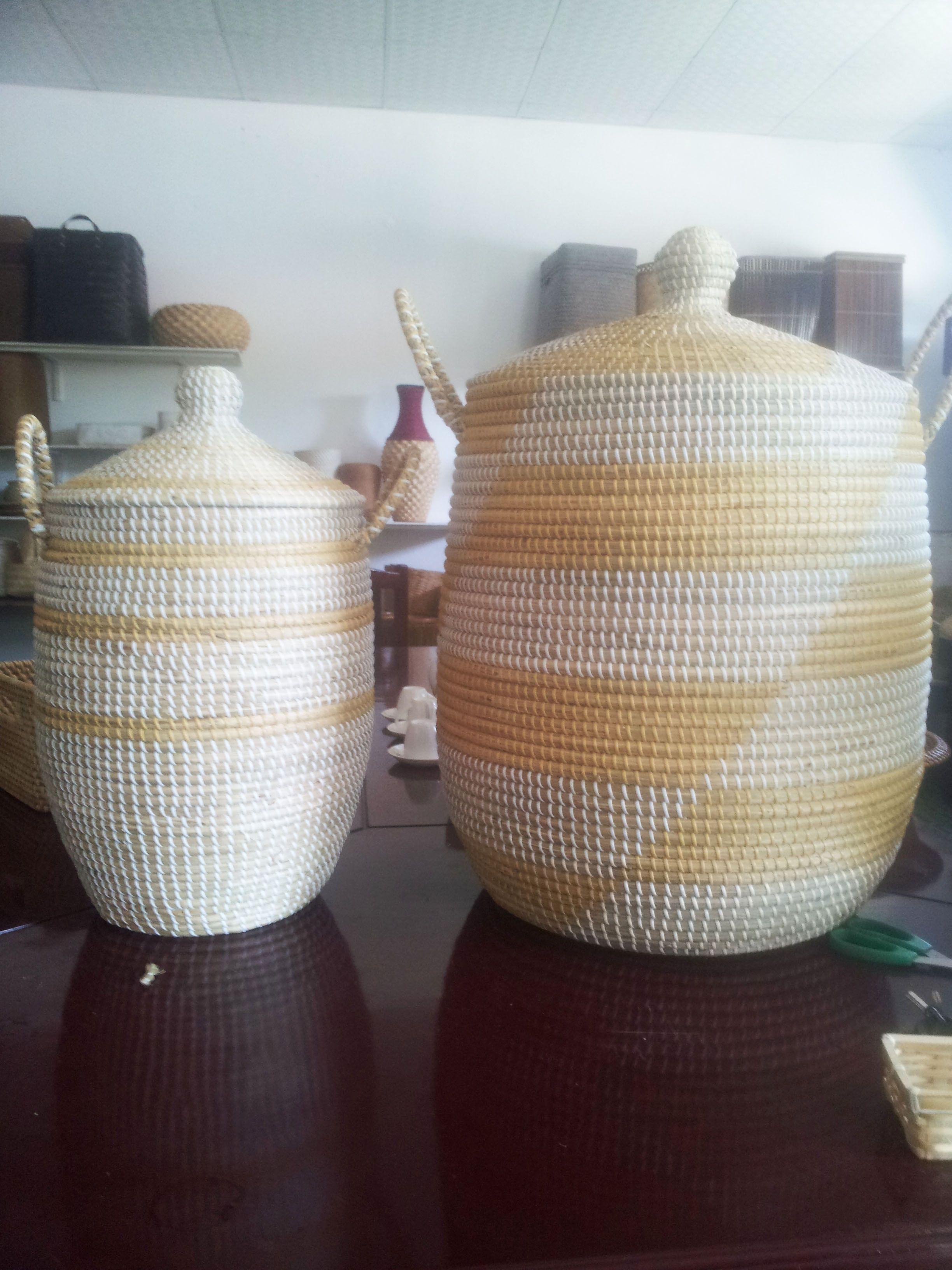 fedd32cbf86f Coiled seagrass basket wholesale export from Vietnam