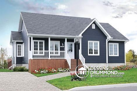 Ranch House Plan 65385 Dark Grey exterior painted siding with White - dessiner un plan de maison