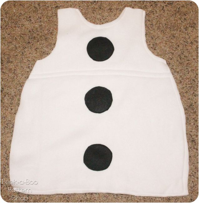 Olaf Inspired Costume Tutorial - Peek-a-Boo Pattern Shop
