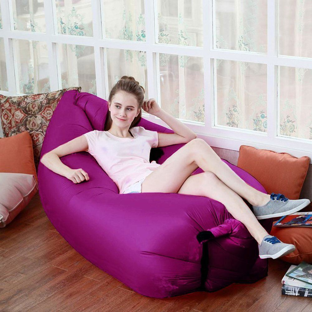 Slipcovers For Sofas Akface Inflatable Lounger Chair Air Sleep Sofa Bed Furniture Outdoor or Indoor Foldable