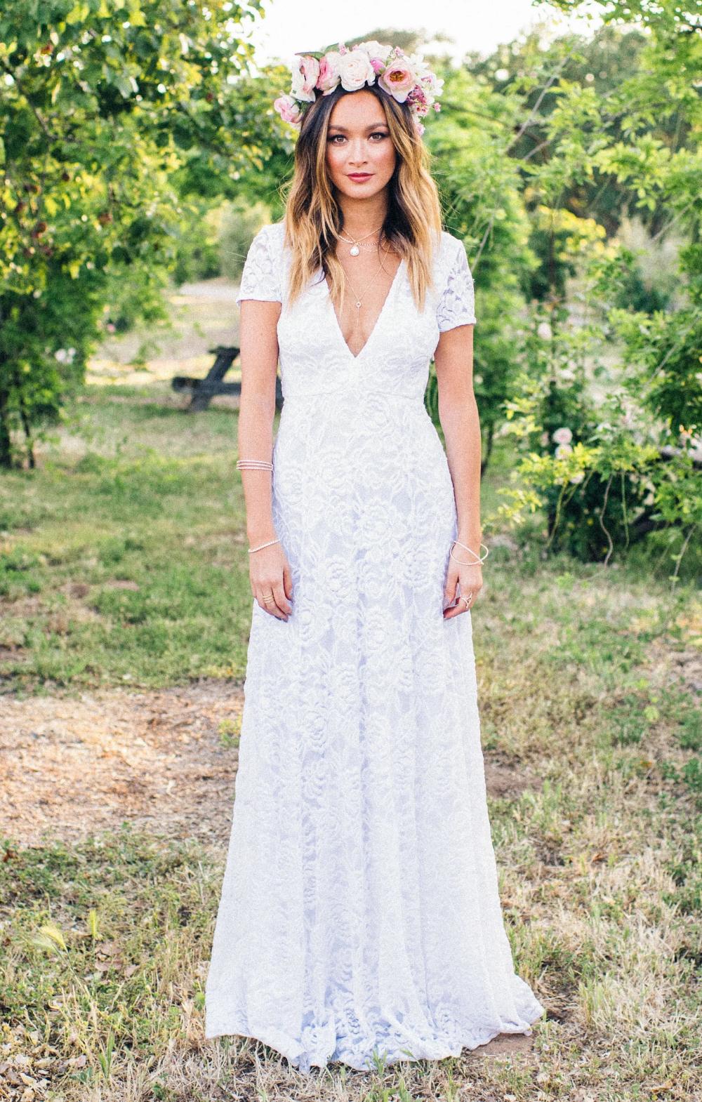 Show Me Your Mumu Eleanor Maxi Dress White lace maxi