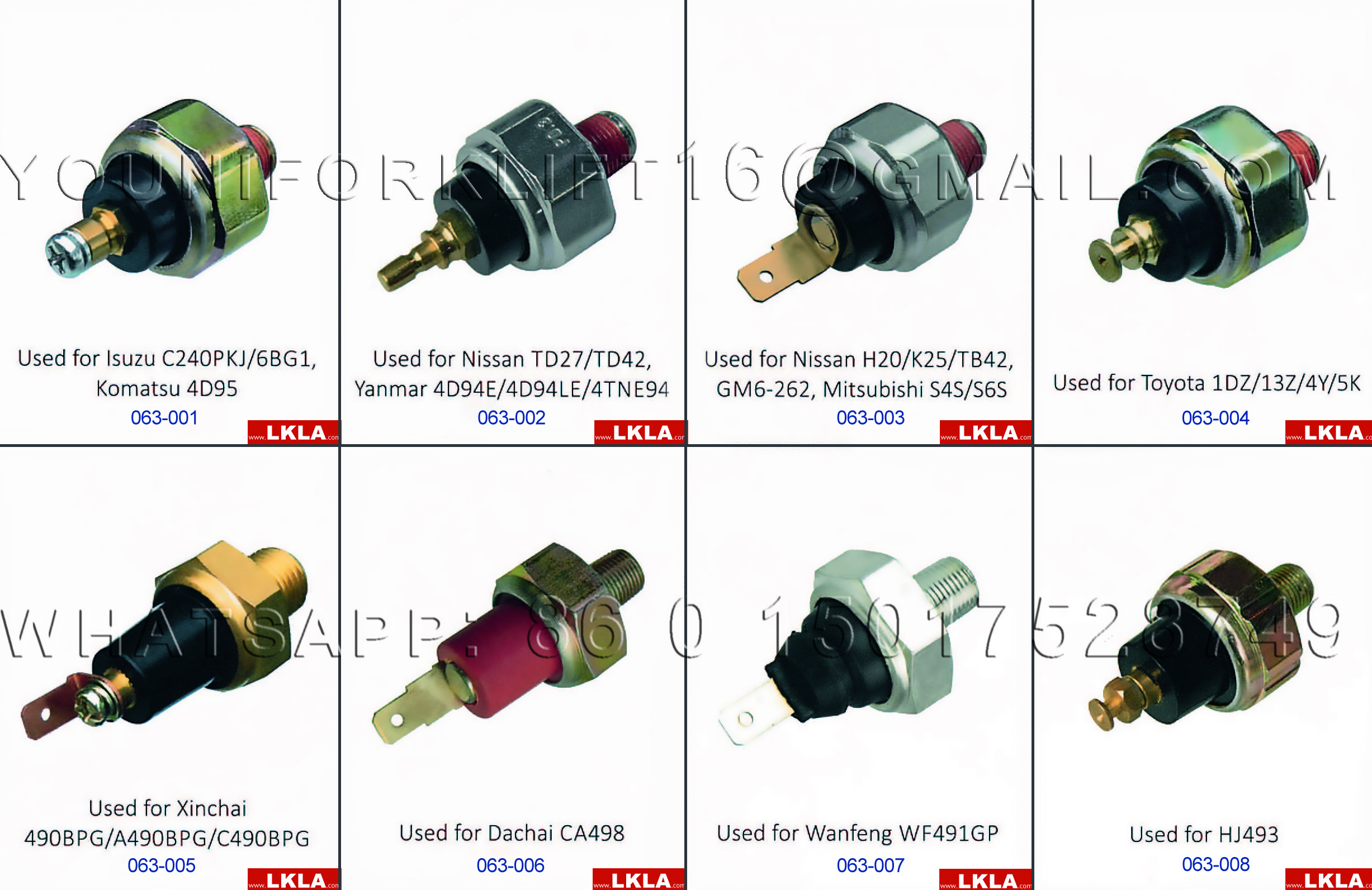 Forklift Engine Part: Oil Pressure Switches | forklift spare