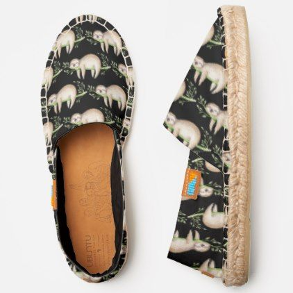 Unique Cute Baby Sloth On Bamboo Branch Pattern Espadrilles | Zazzle.com