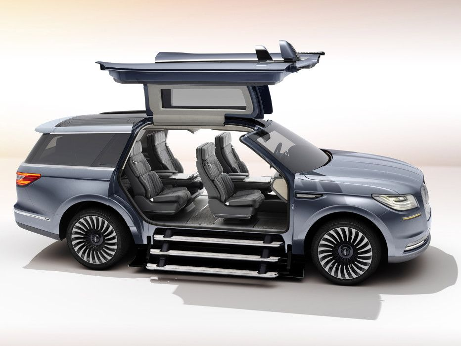 Lincoln S Yacht Sized Concept Suv Has A Closet And Staircase Lincoln Navigator Luxury Suv Lincoln Suv