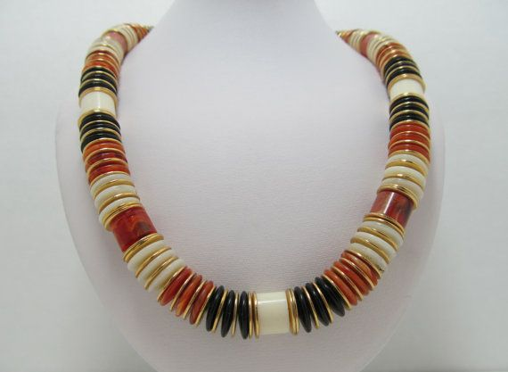 1970s Beaded Necklace by KittyCatShop on Etsy, $7.99