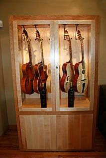 Guitar Room · Display Cabinets · Music Rooms · Storage Ideas ·  Minerbenedettos