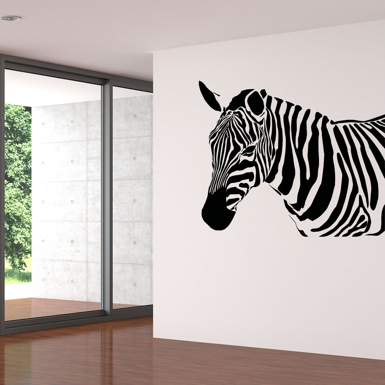 Zebra Head Animal Wall Sticker   World Of Wall Stickers Part 5