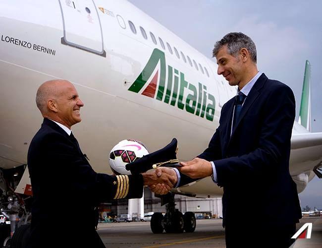 Scambio di ruoli tra il #Comandante di #Alitalia Roberto Barchitta e l'ex…