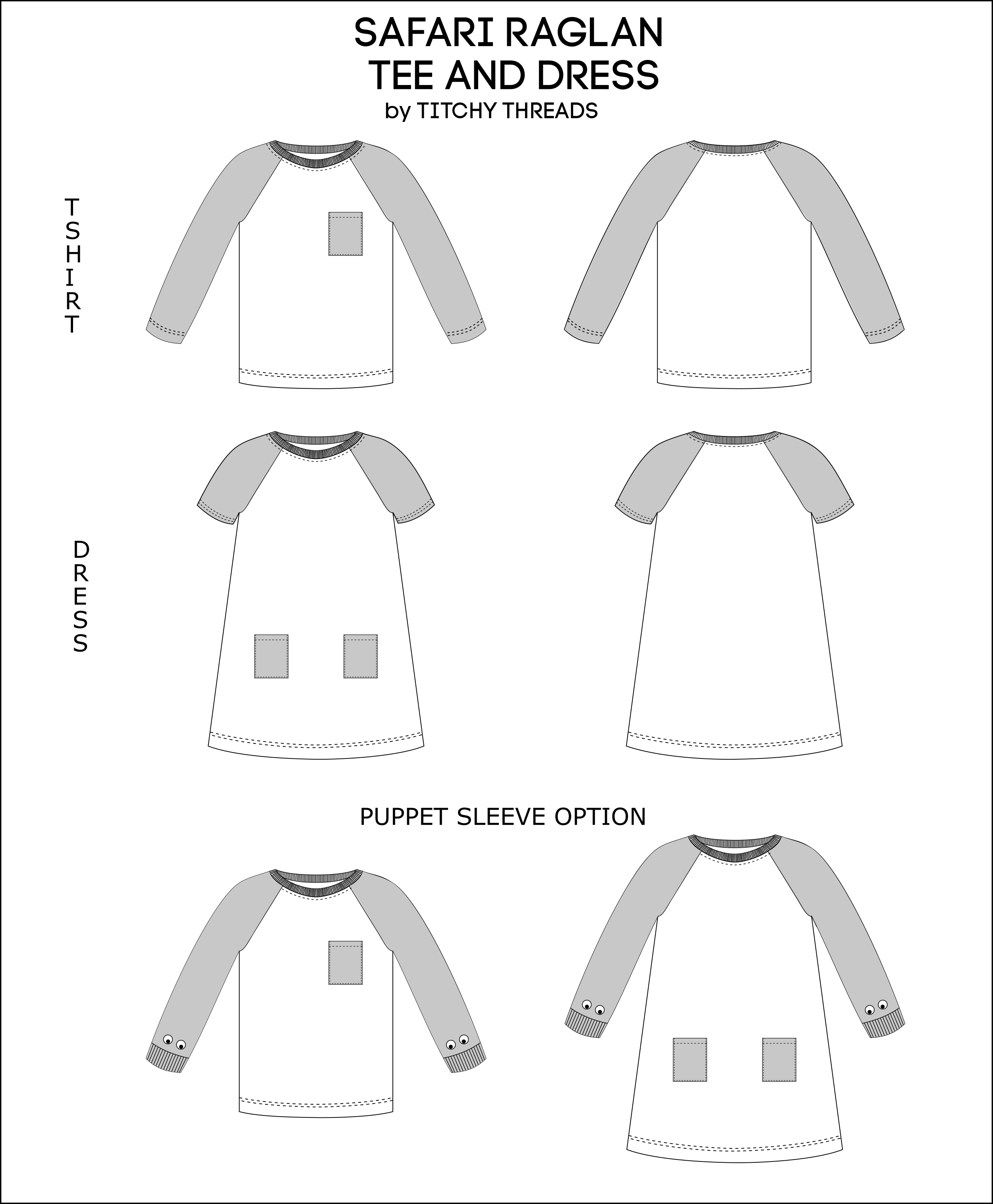 e53a9c4c8 Safari Raglan Tee and Dress - PDF Pattern | Sewing Tutorials ...