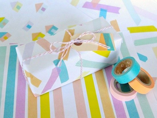 Washi tape wrapping paper design