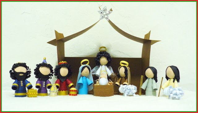 ecstatic over paper nativity scene