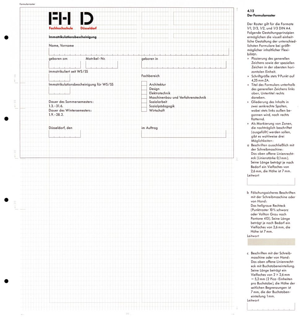 Schmidt-Rhen (Helmut, DE) 1978 Fachhochschule Düsseldorf - Corporate Design Manual 13 | Flickr - Photo Sharing!