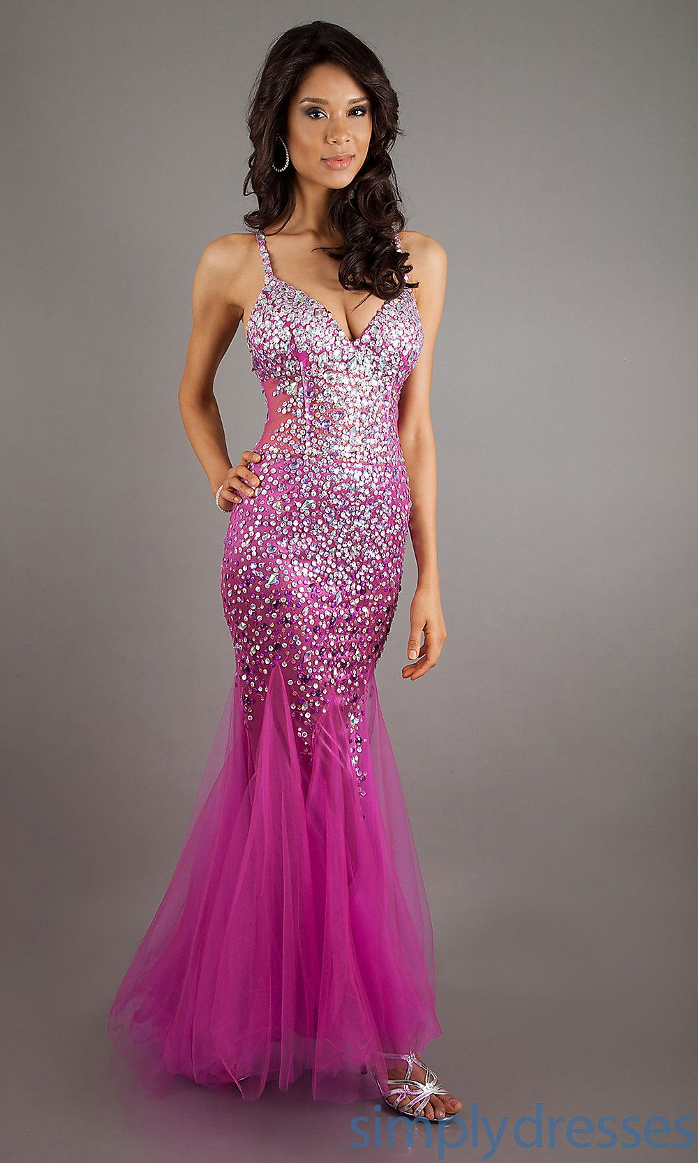 Popular 2013 Mermaid Spaghetti Straps Open Back V-neck Floor Length ...