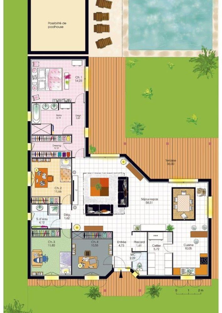 Bungalow de luxe Plans de maison Pinterest Bungalow, House and