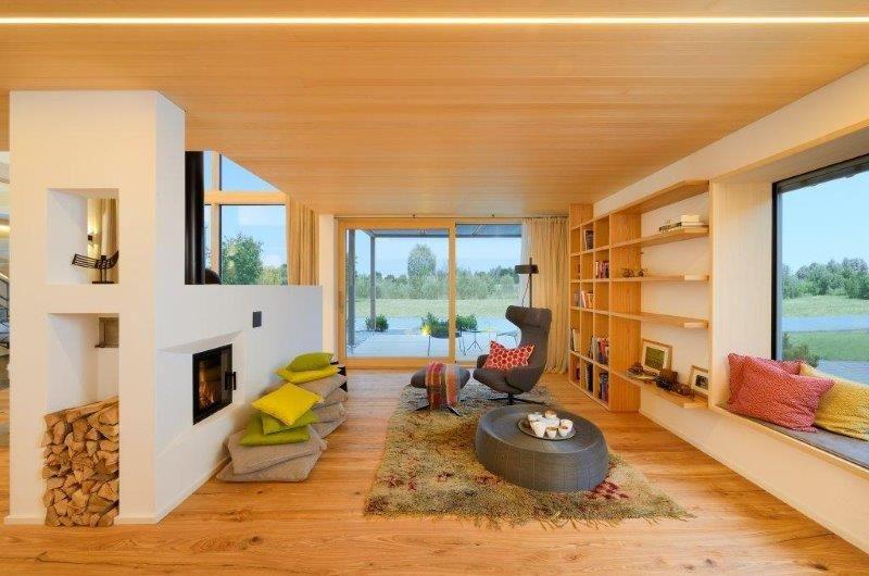 helle lange Diele Castello Esche gebürstet geölt von Hain Parkett - moderne holzdecken wohnzimmer