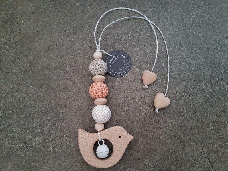 Kinderwagenanhänger - Anhänger *freie Farbwahl* Maxi Cosi Holz 'Vogel' - ein Designerstück von schoen_und_selbstgemacht bei DaWanda