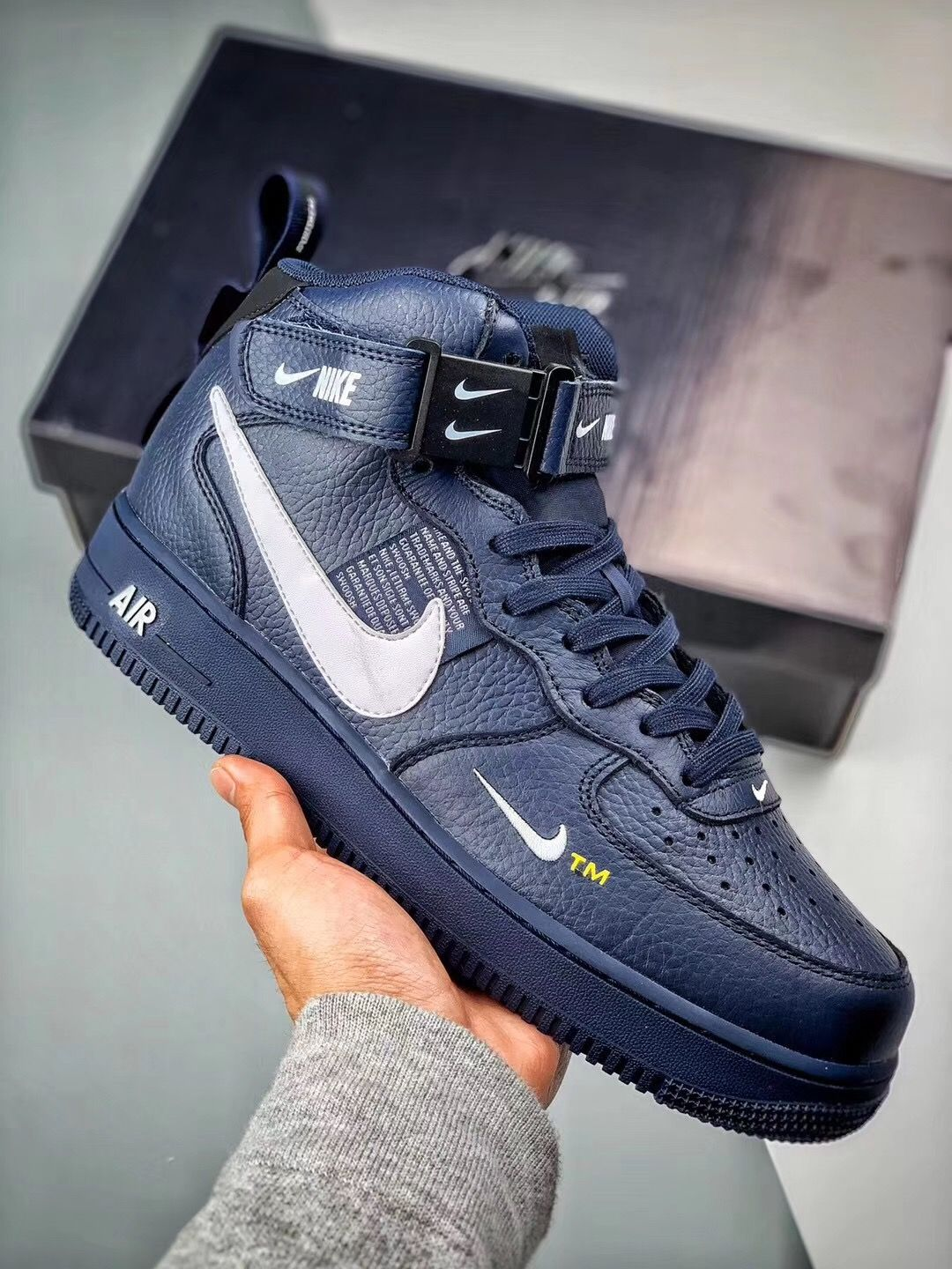 Nike Air Force 1 One Mid LV8 Utility Grey White Black 804609