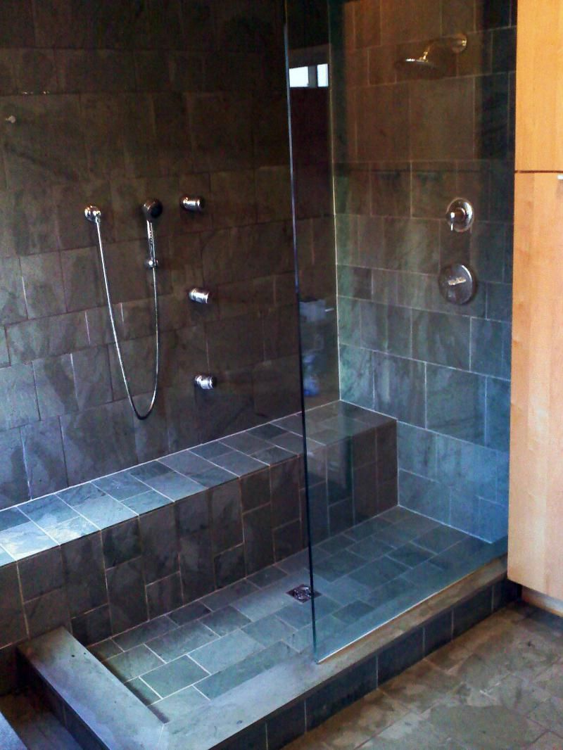 This is a gorgeous slate shower Make