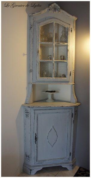 Encoignure Patinee Shabby Le Grenier De Lydia Decorazione Angoli Arredamento Casa Al Mare Mobili