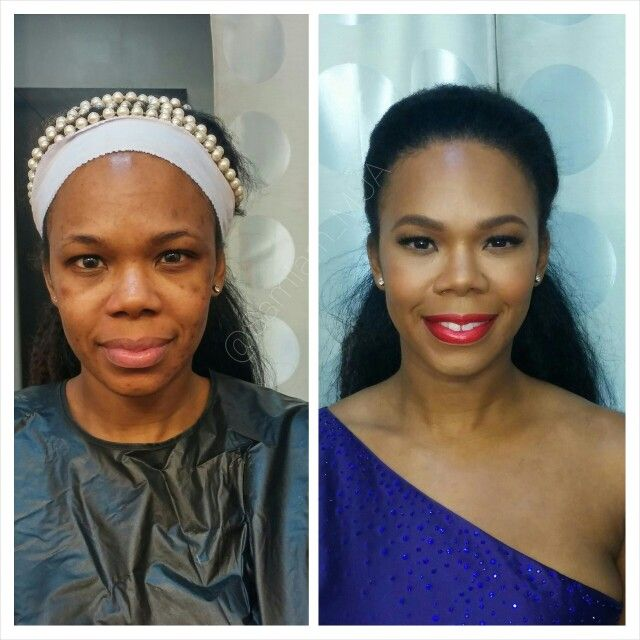 Before And After Makeover Makeup For Black Women Red Lip