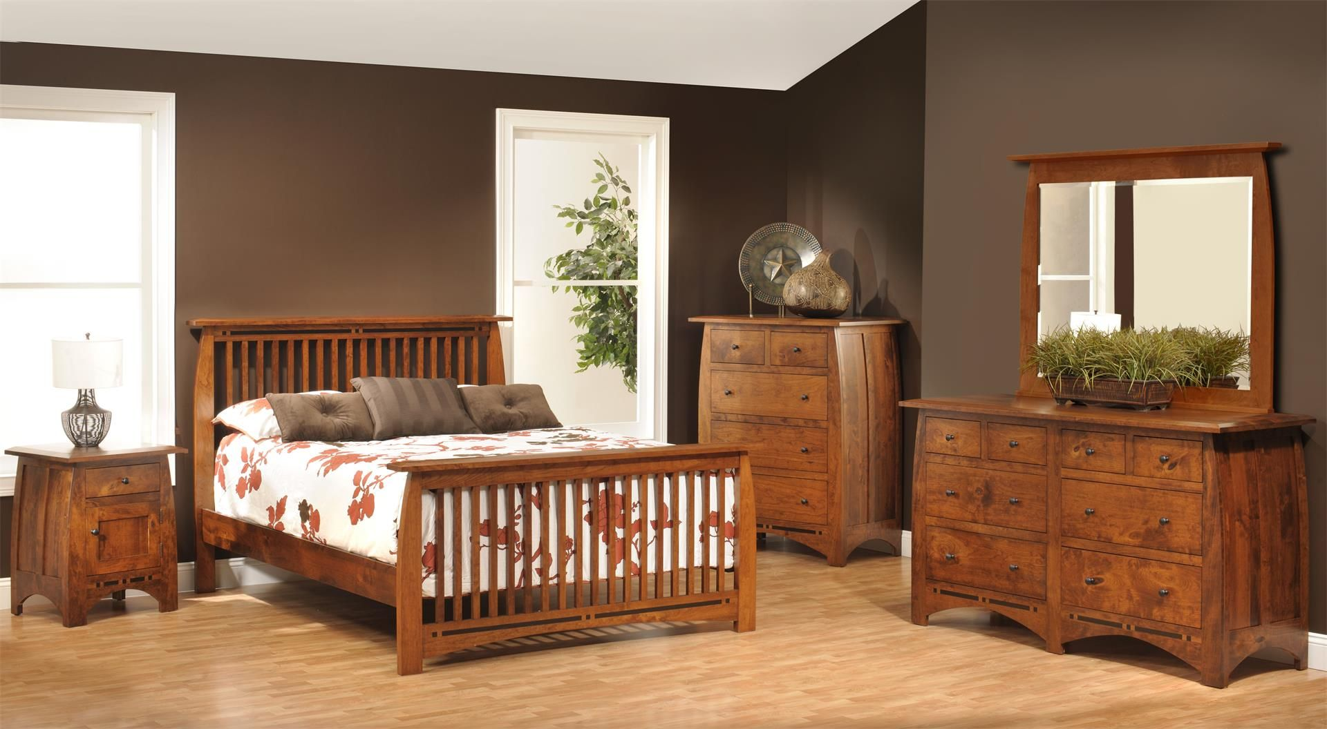 Amish vineyard mission bedroom set rustic charm and bedrooms