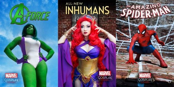 Cosplayers take over Marvel Comic Covers.  Hate to link to just image, but can't ever get geek.com articles  to pin