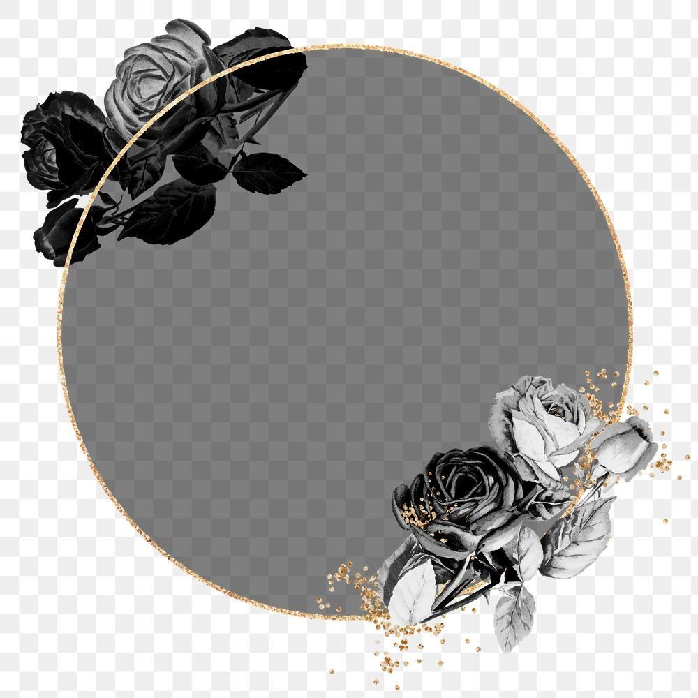 Gold Frame With Black Roses Design Element Free Image By Rawpixel Com Ningzk V Gold Frame Venn Diagram Template Design Element