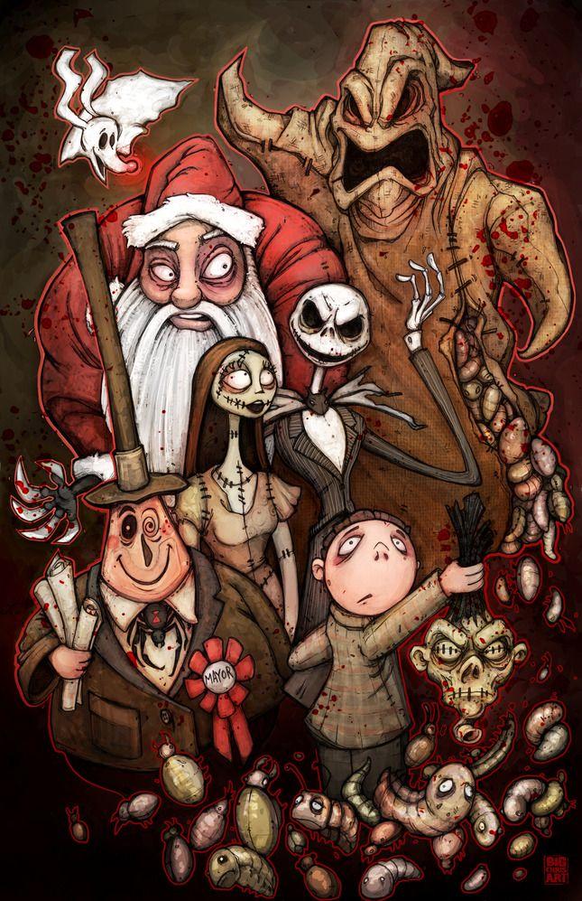 Nightmare Before Christmas Artwork by Chris Wood | Tim Burton ...
