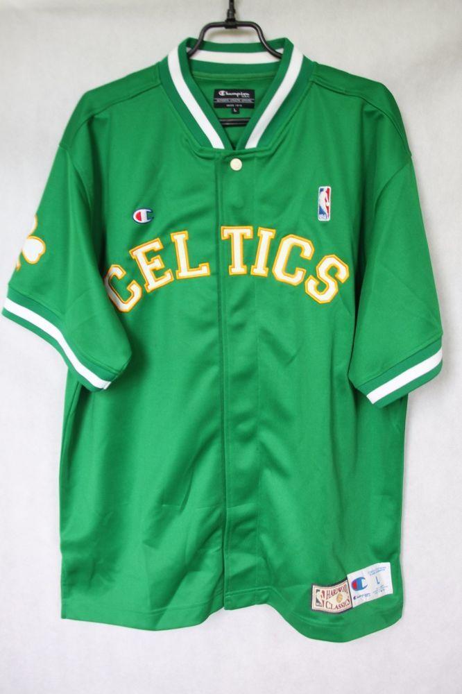 f382fb1adba NBA Boston Celtics Shooting Warmup Shirt Hardwood Classics Champion sz L  -TOP!  Champion  Shirt