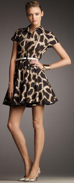 e7f7a4289b5d Giraffe print dress   GIRAFFES   Fashion, Giraffe print, Animal ...