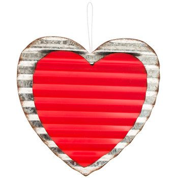 Corrugated Metal Heart Wall Decor | Holiday Store Finds | Pinterest ...