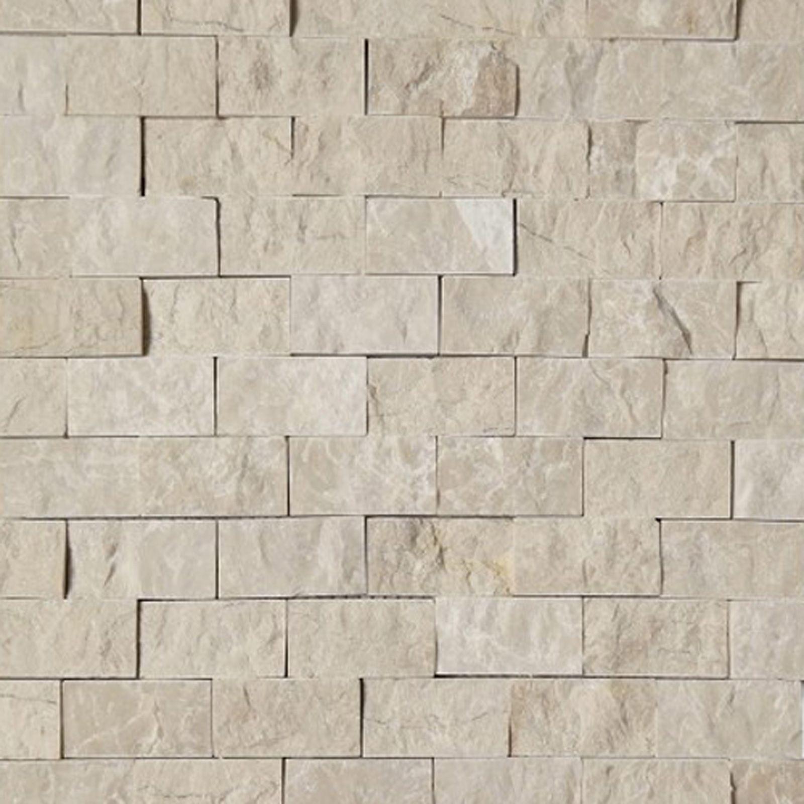 Kitchen Tiles Beige 1 x 2 split face mosaic tile beige marble honed wall floor tile