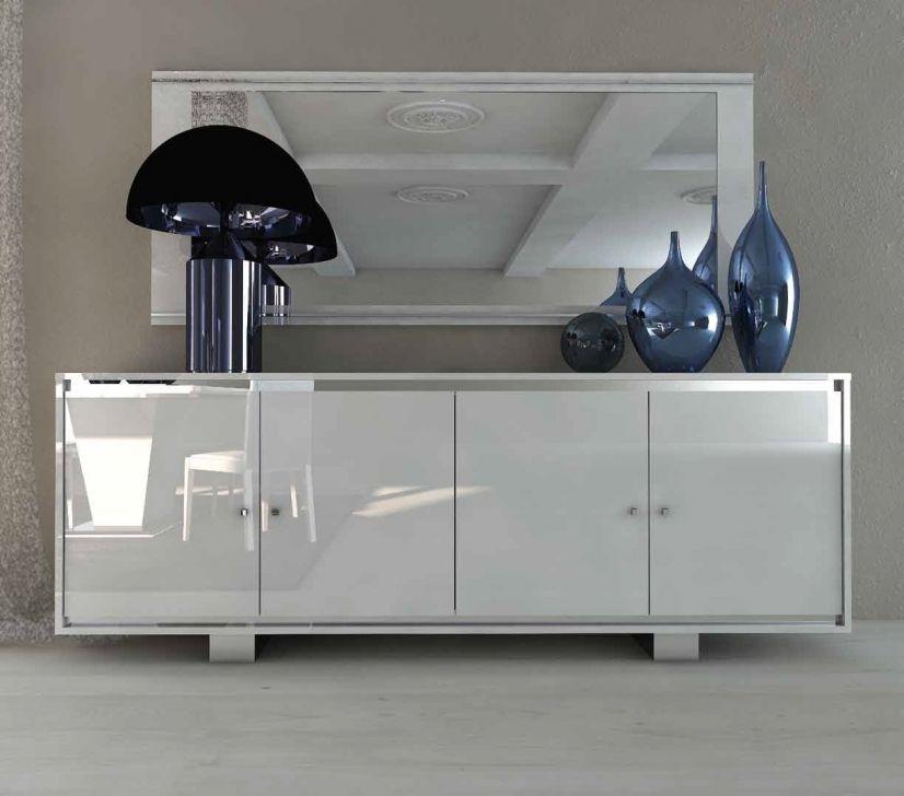 Komoda 4 Drzwiowa Wszystkie Fronty Lakierowane Status Caprice White Produkt Wloski Komody Do Z Dr Dresser Decor Kitchen Sideboard Beautiful Dining Rooms