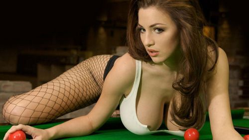 Busty bbw and billiards fun!