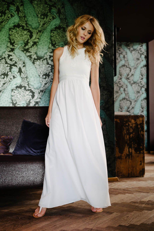 Boho Hochzeitskleid aus Seide küssdiebraut Änne | Brautkleider ...