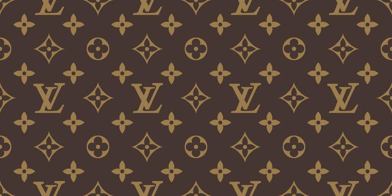 4f004952191e Seamless Louis Vuitton Pattern Vector Vektorgrafik