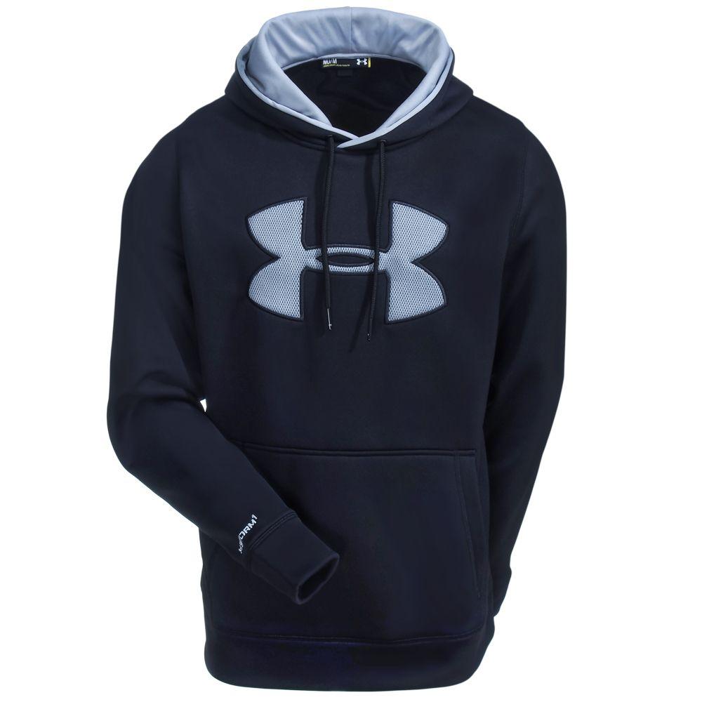 Under Armour Men s 1259632 002 Black Storm Armour Fleece Logo Hooded  Sweatshirt 67c5746cb6a09