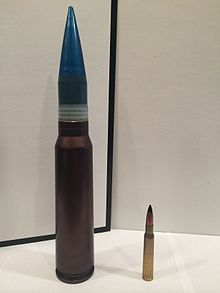 gau 8 avenger 30mm round next to a 30 06 springfield for