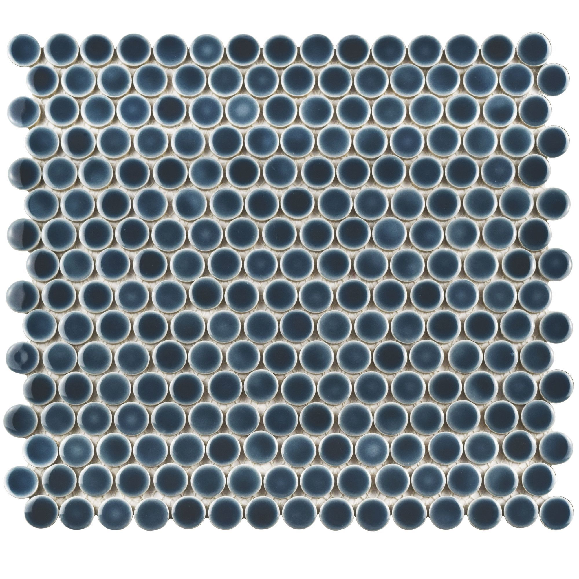 """Penny 0.8"""" x 0.8"""" Porcelain Mosaic Tile in Storm Gray"""