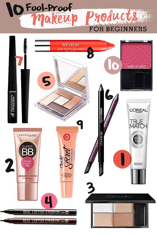 10 Fool,Proof Makeup Products for Beginners