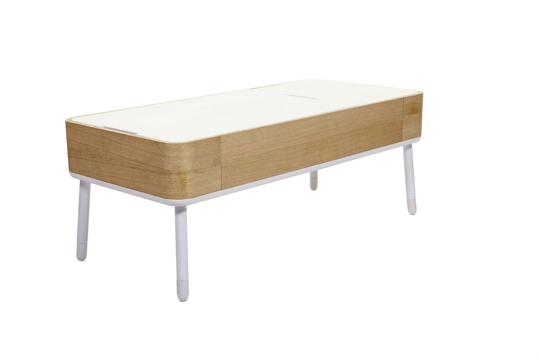 Soft Coffee Table With Storage The Soft Curves Of The Modern Looking Pad Coffee Table