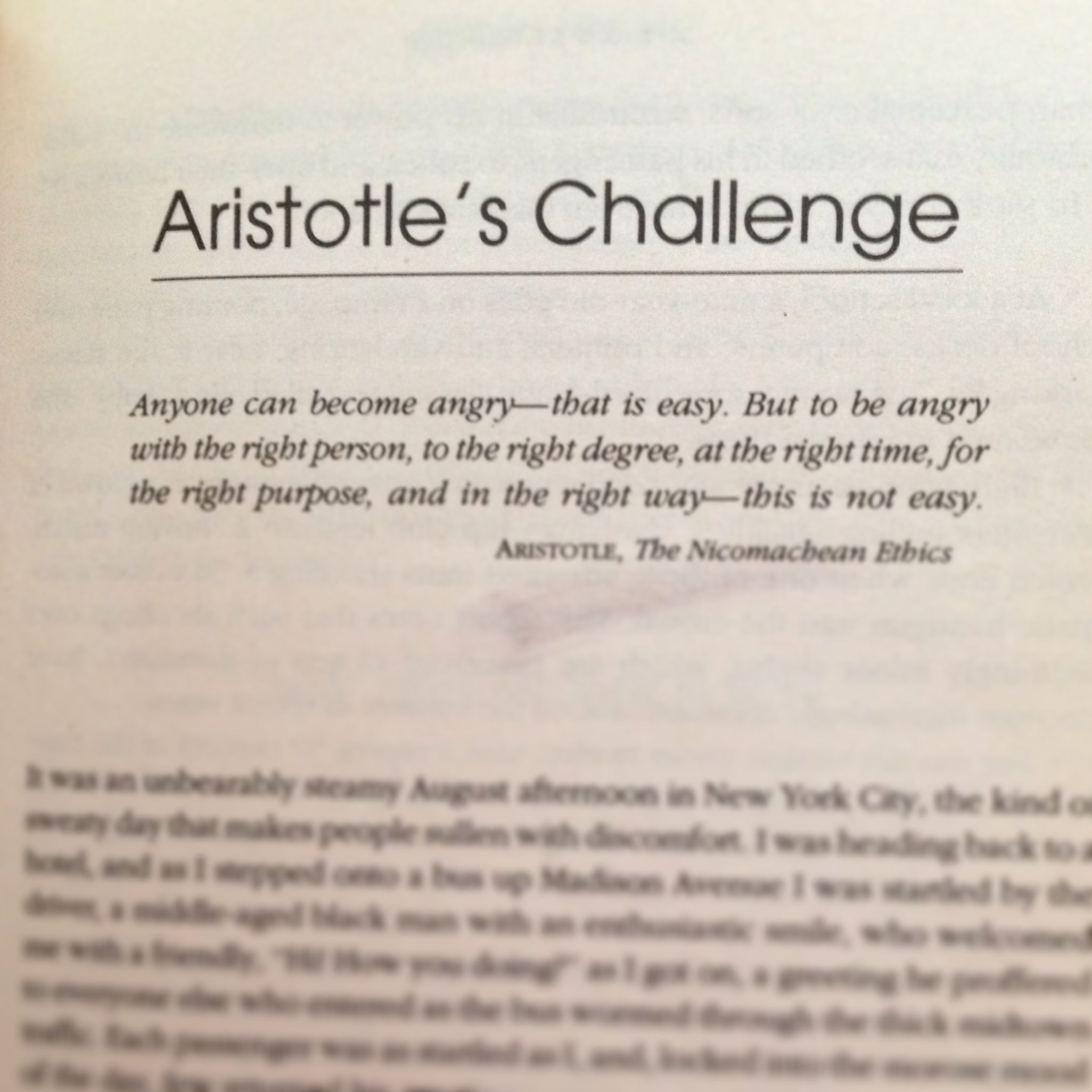 This quote. From Daniel Goleman's Emotional Intelligence ...