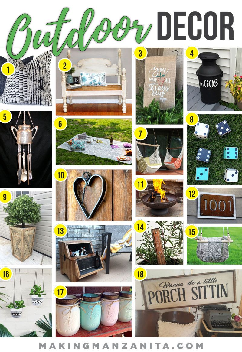 Outdoor Decor From Etsy Outdoor Decor Outside Decorations