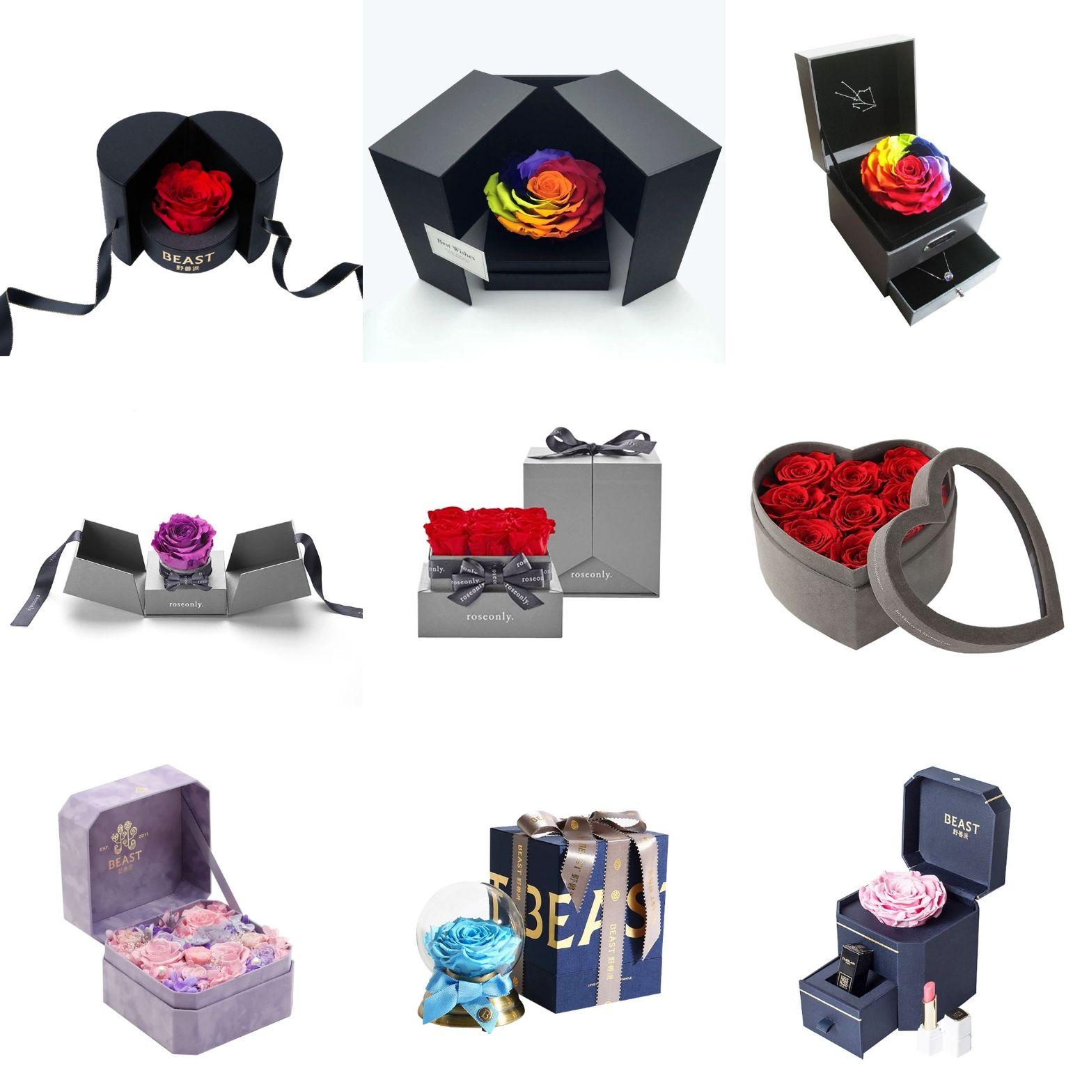 luxury flower rose gift boxes Flower boxes, Flower