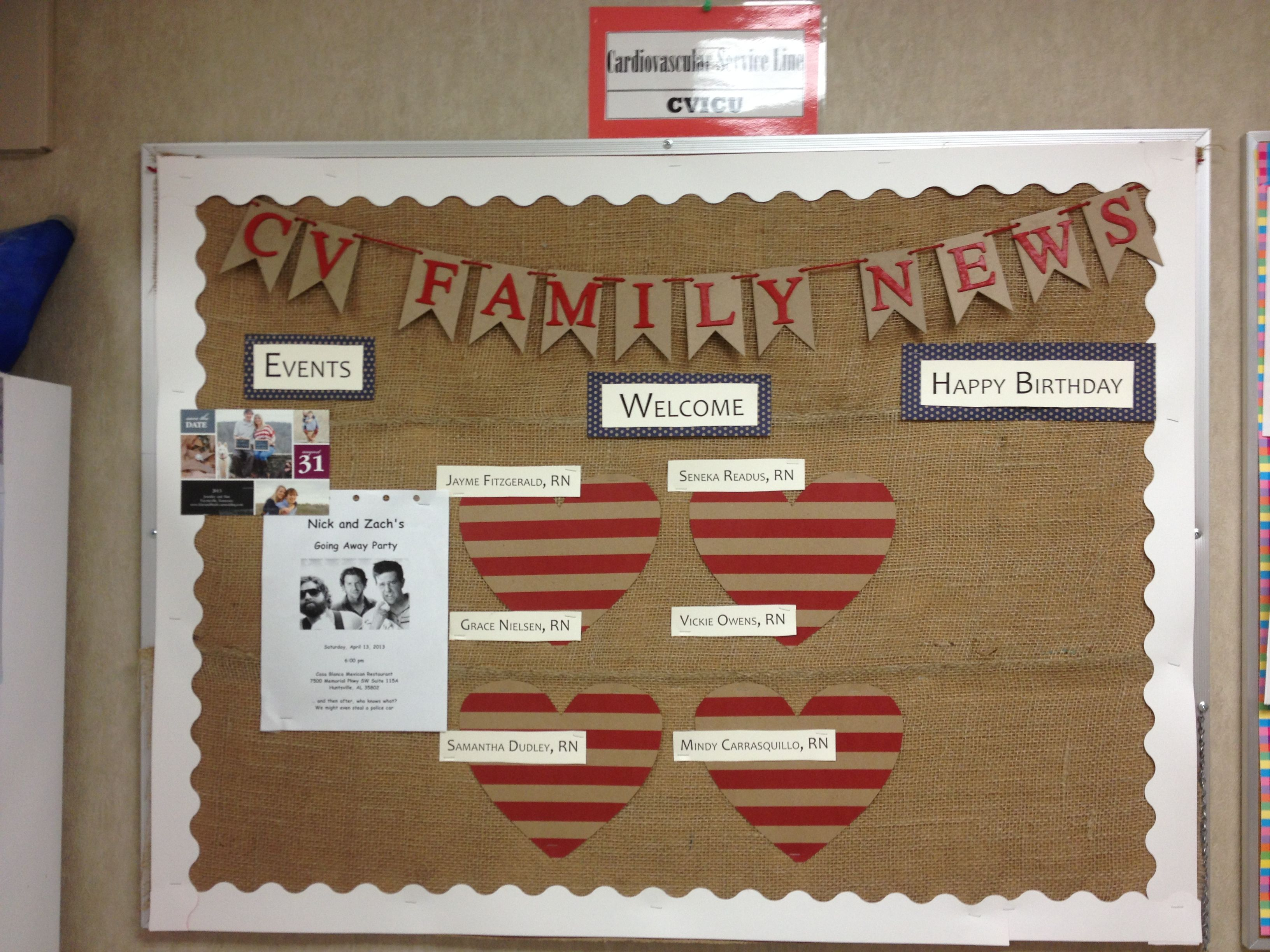 Our Break Room Bulletin Board I Made Office Bulletin Boards