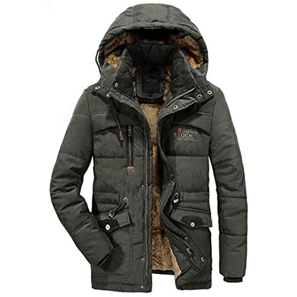 Aptro Herren Jacke Winter Mantel Fleece Warme Winterjacke Outdoor Jacket 868 S 4xl Bekleidung Herren Tops T Shirt In 2020 Jacke Mit Fell Jacken Herren Winterjacken