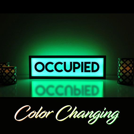 Fantastic Occupied Sign Occupied Bathroom Sign Vacant Sign Light Up Home Interior And Landscaping Elinuenasavecom